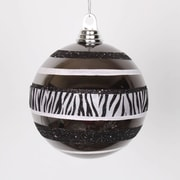 The Holiday Aisle Shiny Zebra Giltter Ball