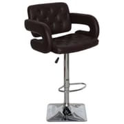 Brayden Studio Epperson Adjustable Height Swivel Bar Stool; Chocolate