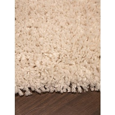 Darby Home Co Jannie Solid Cream Soft Touch Area Rug; 7'10'' x 10'10''