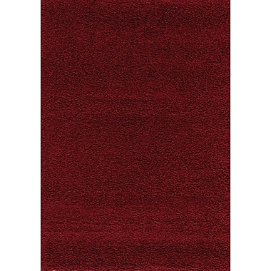 Darby Home Co Annmarie Solid Red Shag Area Rug; 7'10'' x 10'6''
