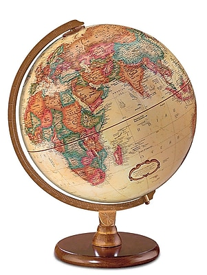 Darby Home Co 12'' Antique French or English World Globe; French