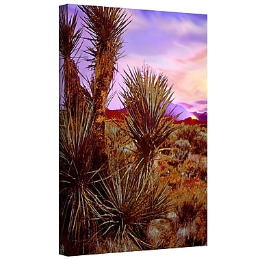 ArtWall 'Twilight Lightning Fire' by Dean Uhlinger Photographic Print on Wrapped Canvas