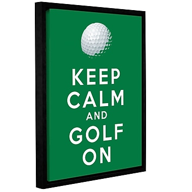 ArtWall Keep Calm and Golf On by Art D Signer Kcco Framed Textual Art on Wrapped Canvas