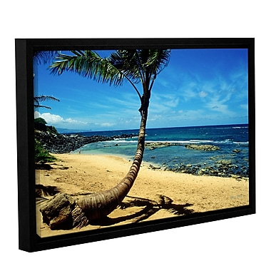 ArtWall Palm Tree In Paradise by Kathy Yates Framed Photographic Print on Wrapped Canvas