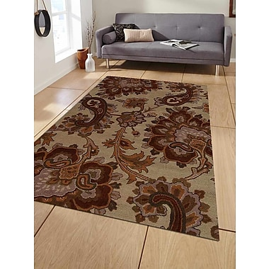 Get My Rugs Hand-Tufted Beige Area Rug; 5'x8'
