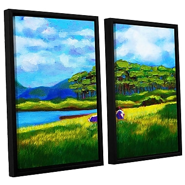 Alcott Hill Scottish Grazers 2 Piece Framed Painting Print Set