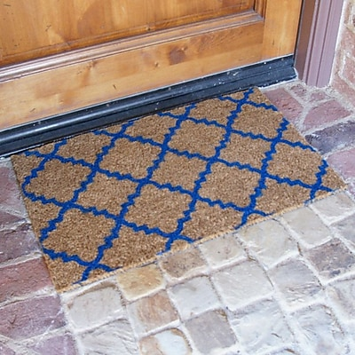 Rubber-Cal, Inc. ''Casablanca'' Doormat; Blue