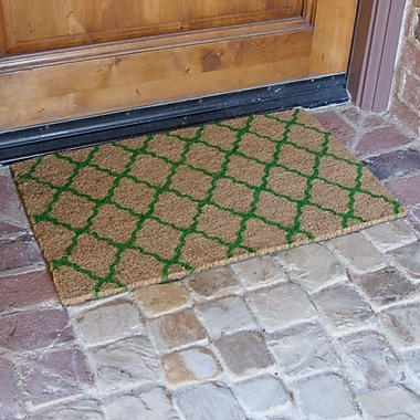 Rubber-Cal, Inc. ''The Moroccan'' Doormat; Green