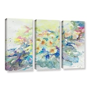 Latitude Run Primroses 2013 3 Piece Painting Print on Wrapped Canvas Set; 36'' H x 54'' W x 2'' D