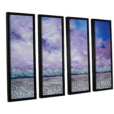 Latitude Run Chamomile 4 Piece Framed Painting Print Set; 36'' H x 48'' W x 2'' D