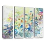 Latitude Run Primroses 2013 4 Piece Painting Print on Wrapped Canvas Set; 24'' H x 32'' W x 2'' D