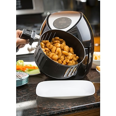Modernhome Modernhome 3.2L Digital Touch-Activated Air Fryer w/ Stainless Steel Accents