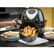 Modernhome Modernhome 3.2L Digital Touch-Activated Air Fryer w/ Black and Stainless Steel Accents