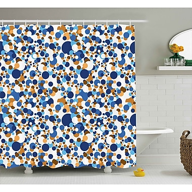 Ebern Designs Theia Confetti Abstract Circle Round Shower Curtain; 69'' W x 70'' H