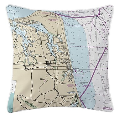 Longshore Tides Addyson Virginia Beach, VA Throw Pillow