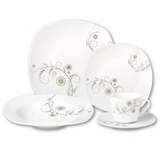 Lorren Home Trends Porcelain 20 Piece Square Dinnerware Set
