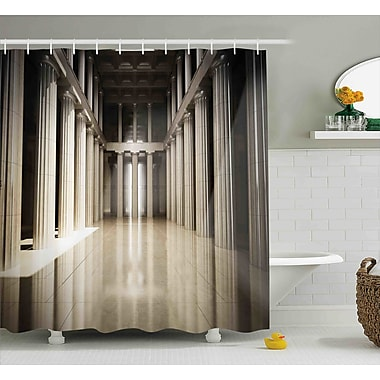 Theresa 3D Model Style Column Interior Empty Room Digital Image Decorative Design Shower Curtain