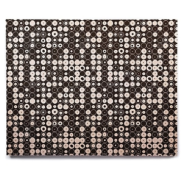 East Urban Home 'White and Black Funny Polka Dots' Graphic Art Print on Wood; 8'' H x 10'' W x 1'' D