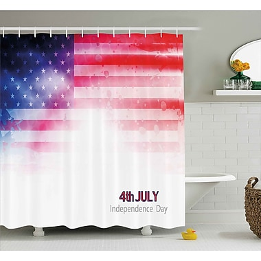 4th of July American Flag Background w/ Stars and Stripes Famous Country Us Design Shower Curtain