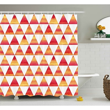 Ivy Bronx Noah Abstract Triangle Geometric Forms Shower Curtain; 69'' W x 70'' H
