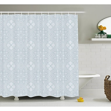 Ivy Bronx Lyons Pale Square and Star Shaped Original Retro Tribal Knot Patterns Decor Shower Curtain