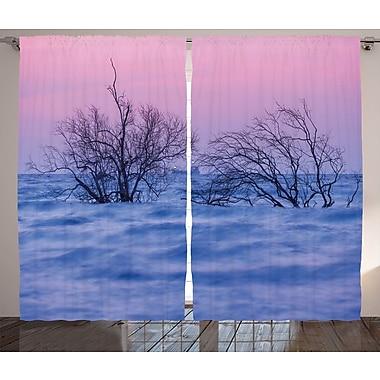 Digna Driftwood Decor Graphic Print & Text Semi-Sheer Rod Pocket Curtain Panels (Set of 2)
