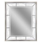 Latitude Run Retangle Alabaster Accent Wall Mirror