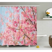 Riggs Japanese Sakura Cherry Blossom Branches Full of Spring Beauty Picture Shower Curtain
