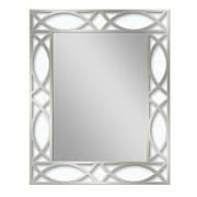Brayden Studio Metal Scroll Etched Accent Wall Mirror
