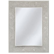 Rosdorf Park Crystal Mosaic Rectangle Accent Wall Mirror