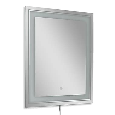 Symple Stuff Frosted Rectangle LED Bathroom/Vanity Wall Mirror