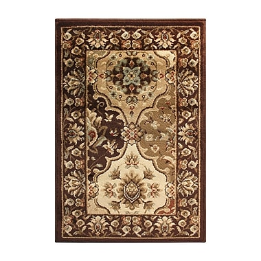 Astoria Grand Battershell Brown/Beige Area Rug; 5' x 8'