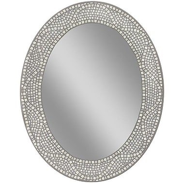 World Menagerie Mosaic Oval Accent Wall Mirror