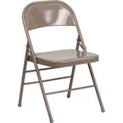 Ebern Designs Taylor Folding Chair; Beige