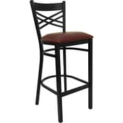 Latitude Run Buster 31'' Bar Stool; Burgundy
