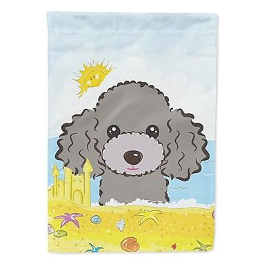 Caroline's Treasures Summer Beach 2-Sided Garden Flag; Poodle (Silver/Gray)