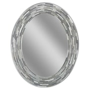 Latitude Run Reeded Oval Tiles Accent Wall Mirror