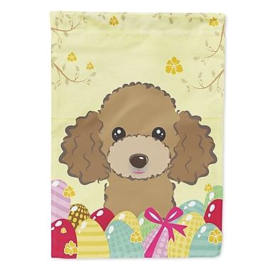Caroline's Treasures Easter Egg Hunt 2-Sided Garden Flag; Poodle (Chocolate/Brown)
