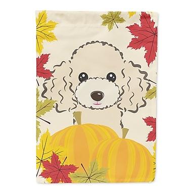 Caroline's Treasures Thanksgiving 2-Sided Garden Flag; Poodle 3 (Buff)