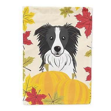 Caroline's Treasures Thanksgiving 2-Sided Garden Flag; Border Collie