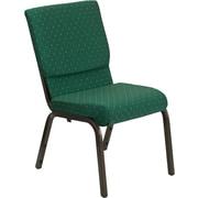 Ebern Designs Taylor Stacking Church Chair; Green