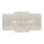 Everly Quinn Shery Modern Crystal 2-Light Wall Bath Bar