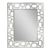 Brayden Studio Frosted Etched Metal Accent Wall Mirror