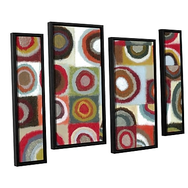Latitude Run Intensity 4 Piece Framed Painting Print Set; 24'' H x 36'' W x 2'' D