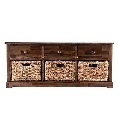 Loon Peak Halton Wood Storage Bench