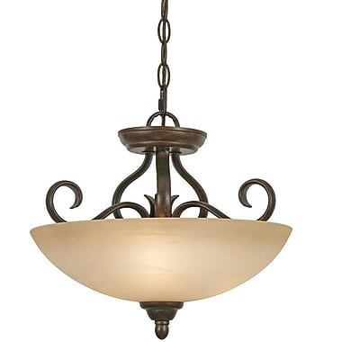 Fleur De Lis Living Aileen 3-Light Convertible Inverted Pendant