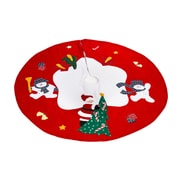 The Holiday Aisle Santa and Frosty Friends Christmas Tree Skirt