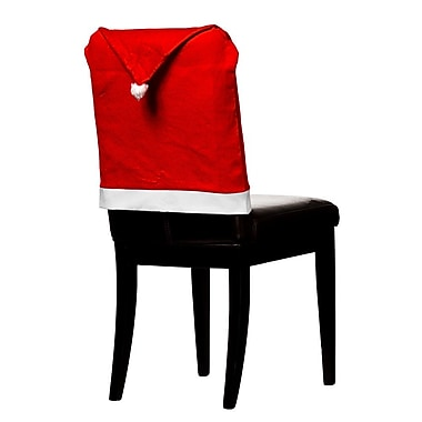 The Holiday Aisle Christmas Hat Chair Cover (Set of 4)