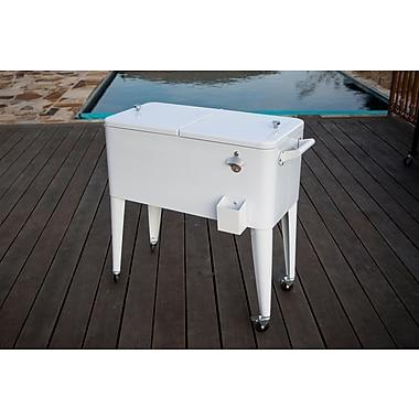 Permasteel 80 Qt. Patio Rolling Cooler; White