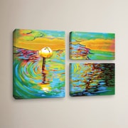 Red Barrel Studio Belchertown Lily 3 Piece Painting Print on Wrapped Canvas Set
